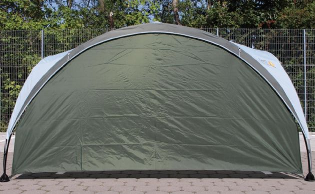 Coleman Event Shelter XL (4.5 x 4.5 m) with Free Event Shelter XL Sunwall (green), Camping Beach Garden Shelter - Grasshopper Leisure